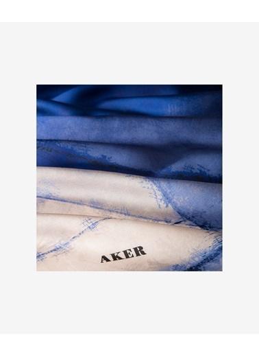 Aker Eşarp Mavi